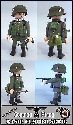 Playmobil Custom WW2 SOLDADO INFANTERIA Ejército ALEMAN WORLD WAR Guerra Mundial