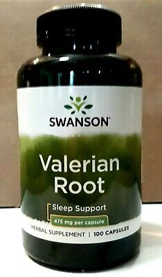 VALERIAN ROOT NATURAL SLEEP AID - EASES ANXIETY 100 Caps 475mg SWANSON ex.12/20