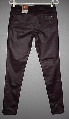 MUDD Skinny Stretch Jeggings-Egyptian Red Coated Leather Look- $44 Junior Sz 5