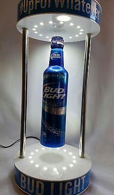 NEW Bud Light Floating Bottle LED Opti Neon Beer Sign Bar Can Budweiser Rotating