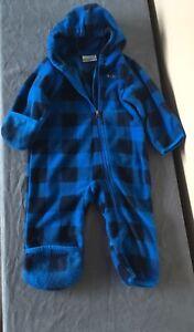 Columbia fleece bunting onesie