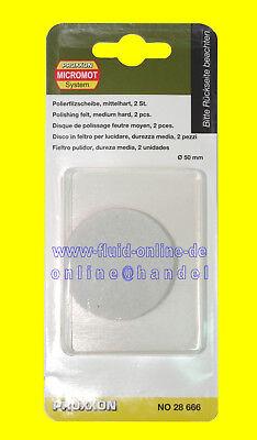 PROXXON 28666 Polierfilzscheibe Packung mit 2 Stück für PROXXON 28660 WP/E