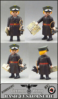 ROMMEL Playmobil Custom WW2 GENERAL Ejército ALEMAN GUERRA MUNDIAL SOLDADO tren