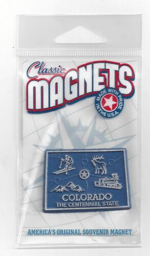 "COLORADO  ""THE CENTENNIAL STATE""    OUTLINE MAP MAGNET  in Souvenir Bag, NEW"