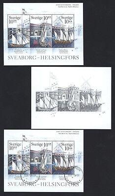 Schweden 2006 - Sveaborg UNESCO Weltkulturerbe - 2528-30 ** + gestempelt + SD