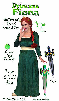 Fiona from Shrek Plus Size Princess Halloween Costume 1x 2x 3x 4x 5x 6x 7x 8x - Shrek Fiona Halloween Costumes Plus Size