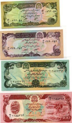 Afghanistan 10 20 50 100 500 1000 5000 and 10000 afghanis set 8 pcs ND 1979
