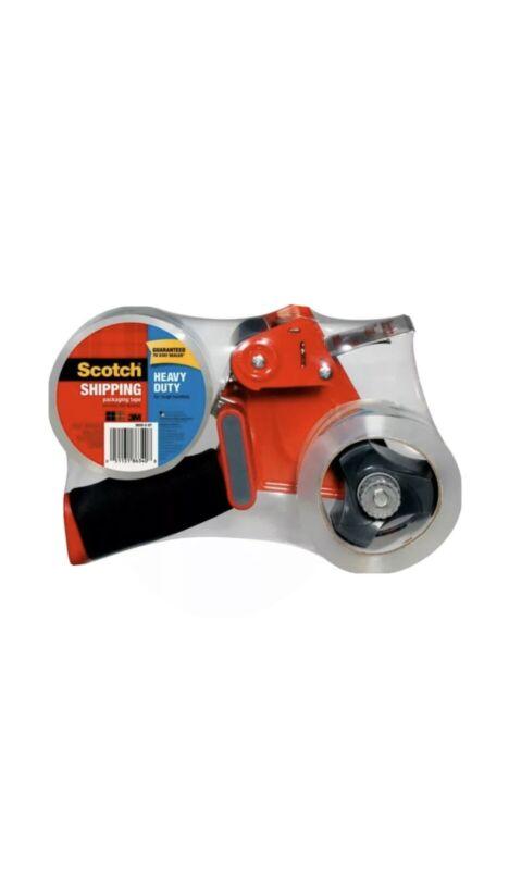 "Scotch® Heavy Duty Tape Pistol-Grip Dispenser, 2 Pack, 1.8""x 54.6 Yards, Clear"