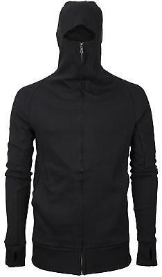 Men's Zip Up Cotton Thumbholes Ninja Turtleneck Skinny Fit H
