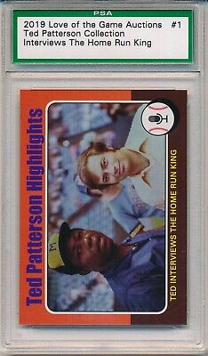 2019 NSCC Hank Aaron Love Of The Game Interviews Home Run King PSA Encapsulated