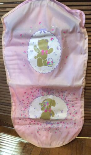 Vintage Sanrio 1986,1992 Bears Pink Garment Bag. So Cute! Great for Organizing!