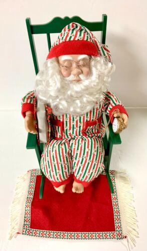 Vintage Snoring Santa Claus in Rocking Chair...amazing condition