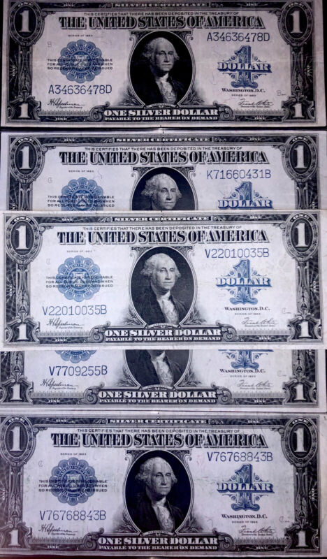 SC ONE 1923 $1 Silver Certificate Horseblanket Old Paper Money VF/XF+ FREE SHIP!