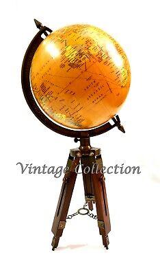 tike Weltkarte Globus Ornament mit hölzernen Stativ Dekor (Globus Ornament)