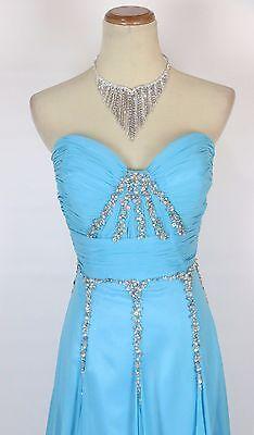Turquoise Wedding Dress (New TONY BOWLS 2351100 Authentic Turquoise Bridal Wedding Women Evening Dress)