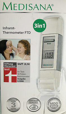 MEDISANA Infrarot Thermometer FTD 3 in 1 Fieberthermometer Ohr Stirn Fieber