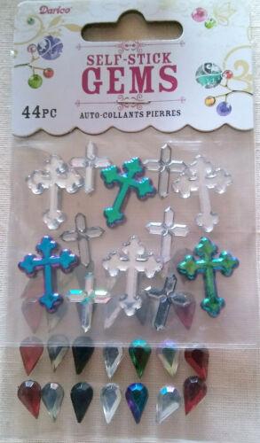 Gems Self Stick 44 pcs Crosses Scrapbooking and Crafts  B16