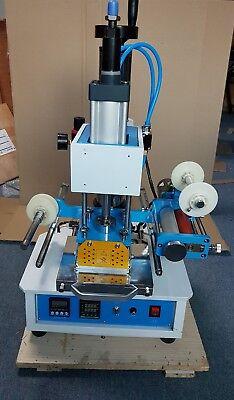 Pneumatic Hot Foil Stamping Press Machine Leather Logo Printer Stamper 220v Y