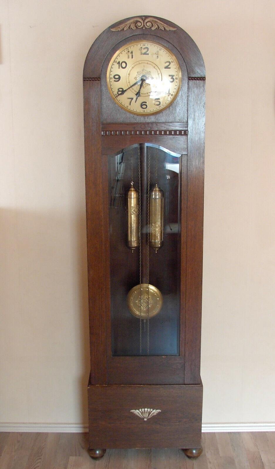 Antike Standuhr, Uhr, Gustav Becker, Jugendstil, Funktionstüchtig, 7 Klangstäbe