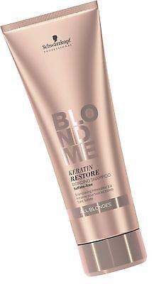 BLONDME Keratin Restore Bonding Shampoo for All Blondes, 8.4