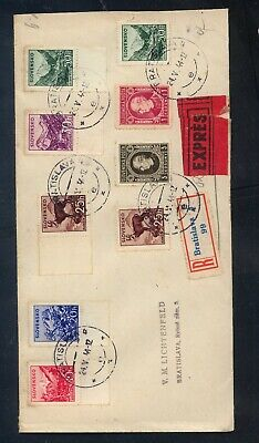 Slovakia  large cover  express   registered    1944
