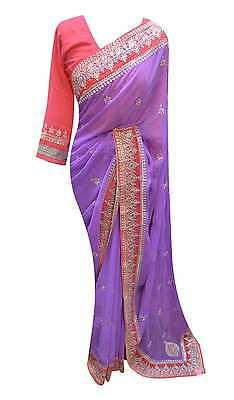 Asiatische Kleidung (Damen Bollywood Designer Mode Partykleidung Indian Südafrika Asiatisch Saree)