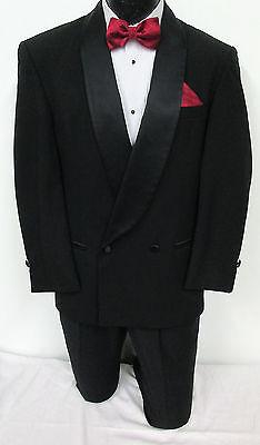 Boys Size Black Double Breasted Satin Shawl Lapel Tuxedo Jacket *Made in USA* (Boys In Tuxedo)
