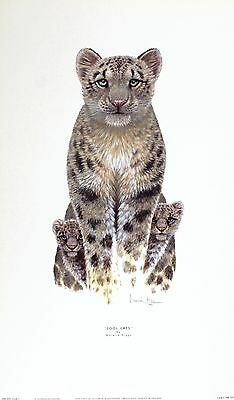 """WARWICK HIGGS """"Cool Cats"""" rare OUT-OF-PRINT last copies Cheetahs"""