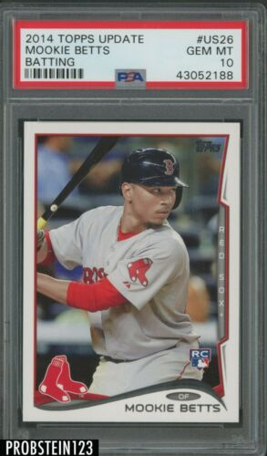 2014 bowman prospects chrome #bcp109 MOOKIE BETTS boston red sox rookie PSA 10