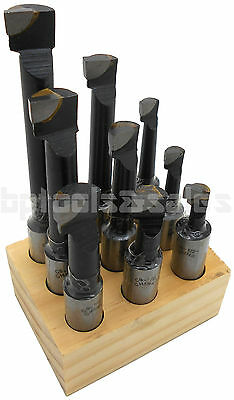9pc Precision 12 Shank Boring Bar Set Carbide Tipped Bore Lathe Premium Tool