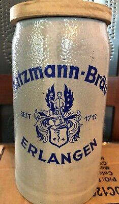 Kitzmann-Brau SEIT 1712 Erlangen, made in Germany, Beer stein mug with lid