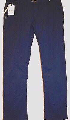 Re-Hash Blue Cotton Men's Casual Italy Pants Trouser Size 40
