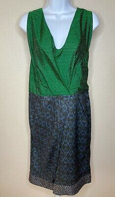 Dries Van Noten Emerald Green Silk Womens Dress Sz 38
