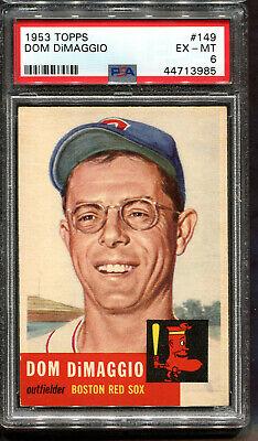 1953 Topps #149 Dom DiMaggio PSA 6 Centered Boston Red Sox Boston Red Sox Center