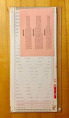 """Silver Reed VINTAGE RIBBER PUNCHCARD Set """"R"""" for SRP 20, 50, 60, 60N - 10 Cards"""