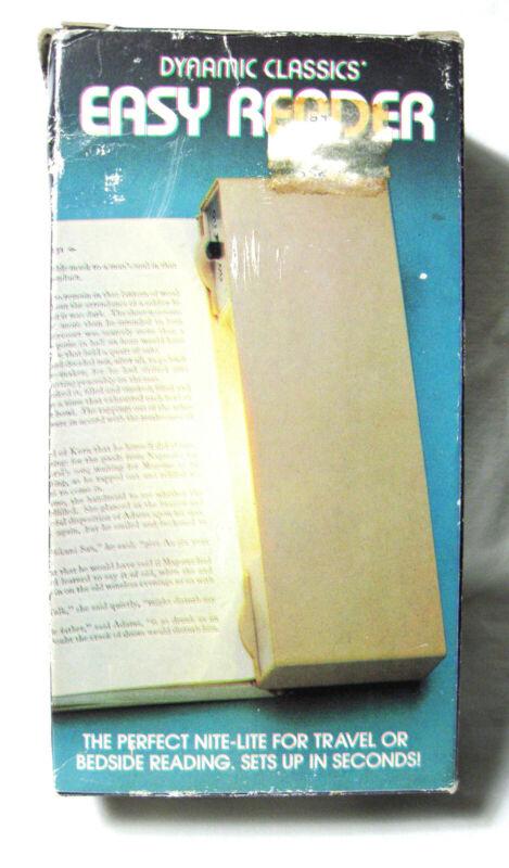 Vintage BOOK LIGHT Nite-Lite Easy Reader w/Box Dynamic Classics Hong Kong 1982