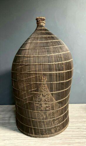 Indonesian Fish Catcher Trap Basket Hand Wooven Vintage