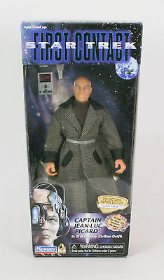 Star Trek First Contact Movie Edition Captain Picard Civilian Outfit  Playmates - Movie Star Outfits