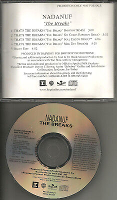 Used, NADANUF w/ KURTIS BLOW The Breaks w/ 4 RARE REMIXES & EDIT PROMO DJ CD single for sale  Shipping to Canada