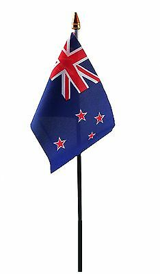 "NEW ZEALAND SMALL HAND WAVING FLAG 6""X4"" flags"