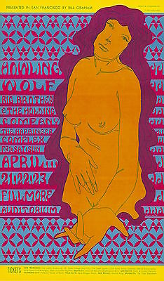 MINT Janis Joplin Howlin' Wolf 1967 BG 60 Fillmore Poster