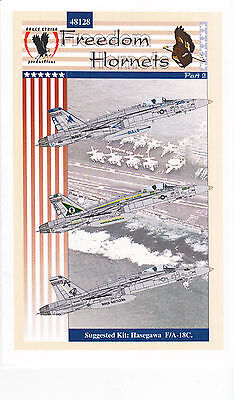 Eagle Strike F-18 Freedom Hornets  Decals 1/48 for Monogram Revell Hasegawa Kits