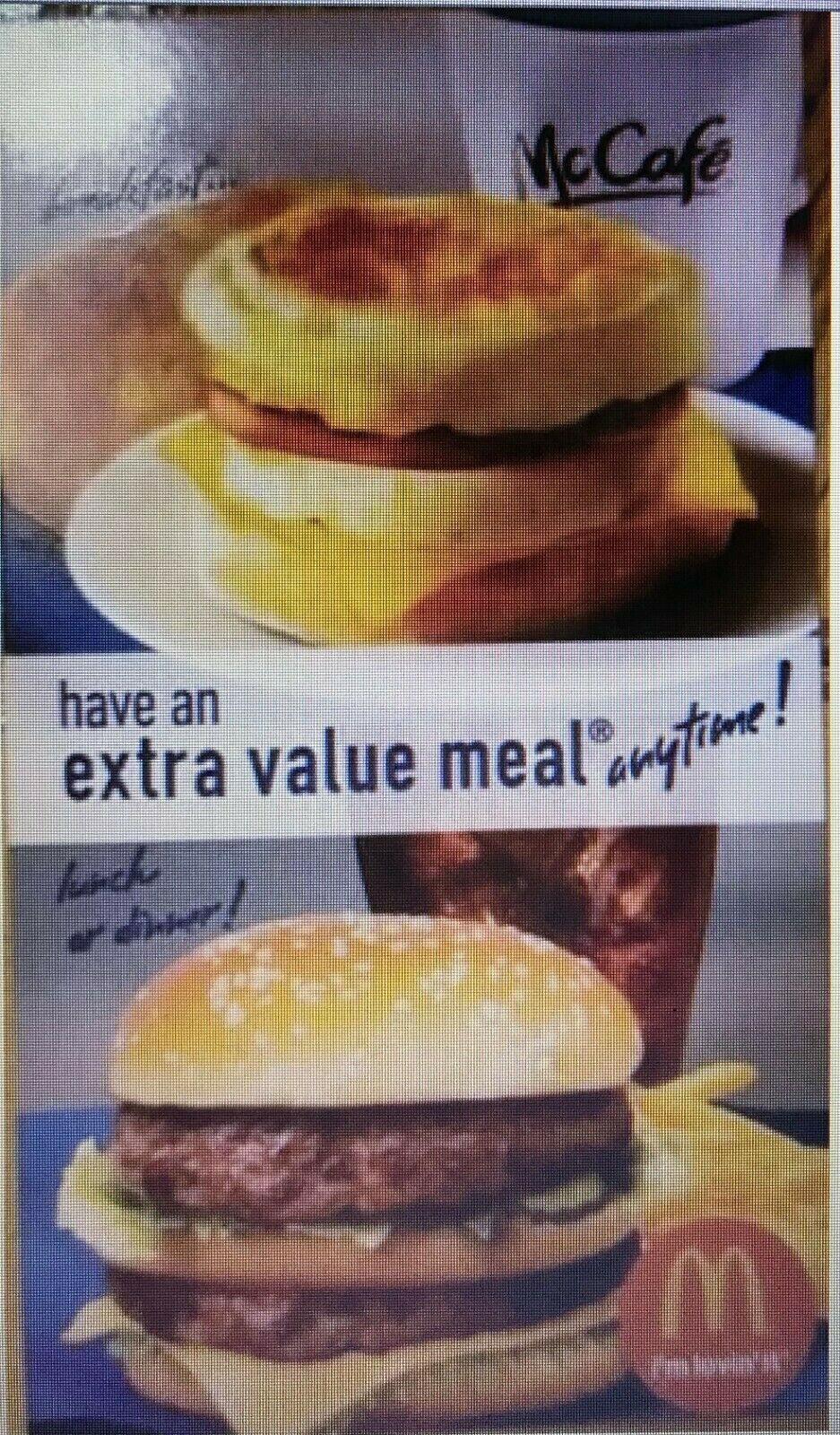Lot Of 5 McDonalds Combo Meal Card Voucher Certificates  - $8.88