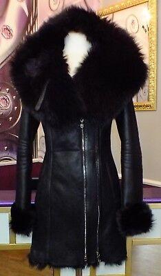 GROßHANDEL!! Luxus Designer Damen  Lammfellmantel  Toskana Fell Gr.34 bis 44 NEU