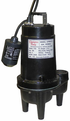 Champion Pump 12 Hp Submersible Sewage Pump Cpw5-12 H