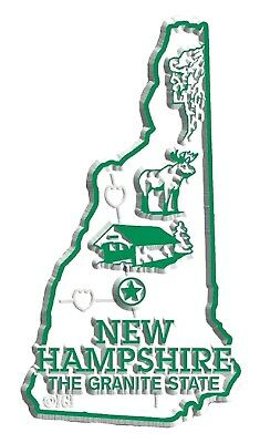 New Hampshire State Map (New Hampshire the Granite State Map Fridge Magnet)