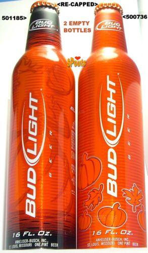 2005+06 HALLOWEEN ALUMINUM BOTTLES BUD LIGHT PUMPKIN ORANGE ST.LOUIS,MO BEER CAN
