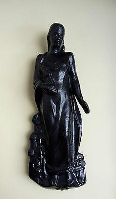 Heilige Barbara Halbplastik Hängeskulptur Otto Junker GMBH 1984 Kunstguss