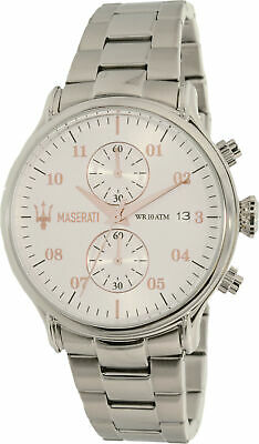 Maserati Men's R8873618002 Silver Stainless-Steel Plated Quartz Dress Watch