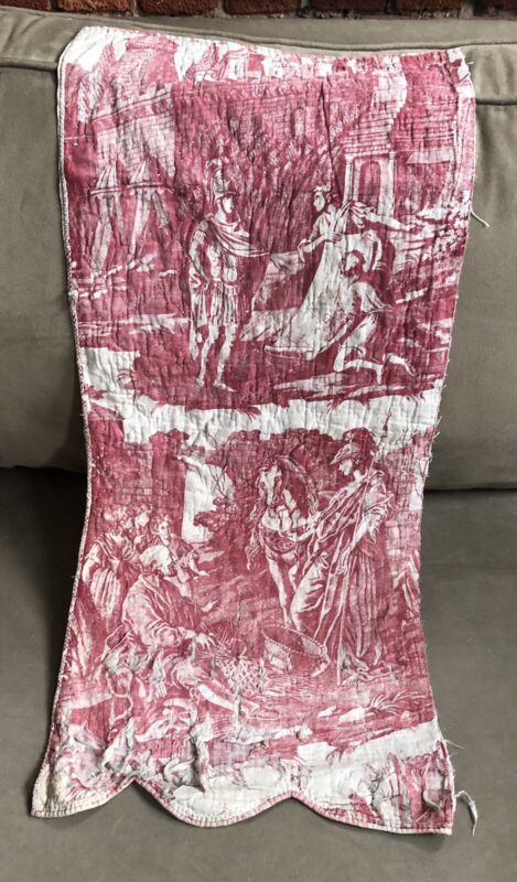 Antique French Toile Panel Circa 1810